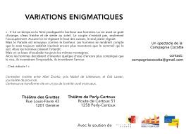 Variations Enigmatiques descriptif